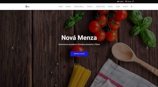Webová stránka pre stravovacie zariadenie