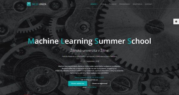 Webová stránka pre letnú školu strojového učenia